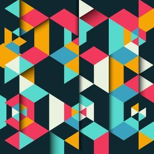 Abstract Geometric Background with a 3D Effect by kjpargeter