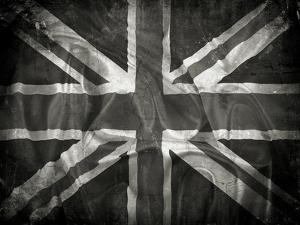 Grunge Union Jack Flag Background With Splats, Stains And Creases by kjpargeter