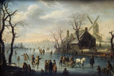 Ice Skaters, 17th Century by Klaes Molenaer