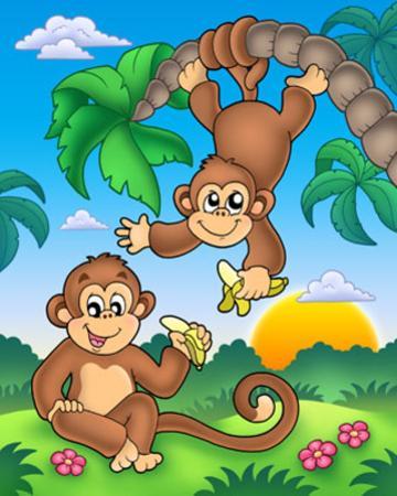 Monkeys by Klara Viskova
