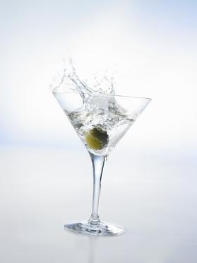 Martini with Green Olive (Splash) by Klaus Arras