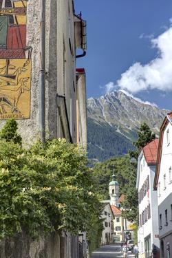 Alley in Hotting District of Innsbruck, Mariahilf, Innsbruck, Tyrol, Austria by Klaus Neuner
