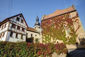 Half-Timbered, Burggut, Parish, Bavaria, Germany, Europe by Klaus Neuner