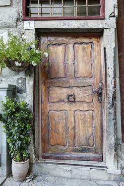 Old Door, House Facade, Upper Town, Bregenz, Vorarlberg, Lake Constance, Austria, Europe by Klaus Neuner