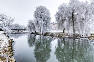 Winter Magic, Ludwigsbrucke, Frankish Saale River, Bavaria, Germany by Klaus Neuner