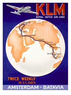 KLM Royal Dutch Airlines Poster