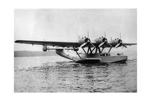 Flugboot Dornier Do 24 bei Friedrichshafen, 1937 by Knorr & Hirth