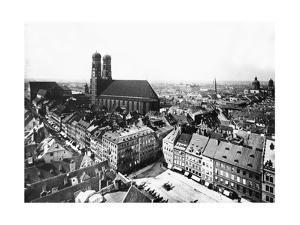 Marienplatz in München, 1860 by Knorr & Hirth