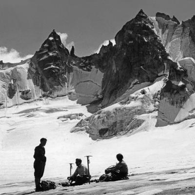 Alpinists in Switzerland, 1939 by Knorr Hirth Süddeutsche Zeitung Photo