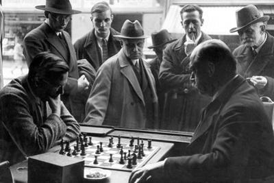 Chess Players in Cafe Stephanie in Munich, 1931 by Knorr Hirth Süddeutsche Zeitung Photo