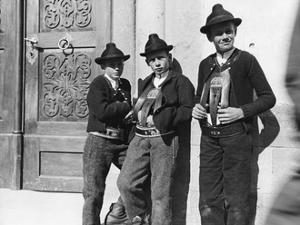 Farmboys from Sarentino in South Tyrol, 1914. by Knorr Hirth Süddeutsche Zeitung Photo