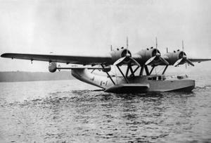 Flying Boat Dornier Do 24 Near Friedrichshafen, 1937 by Knorr Hirth Süddeutsche Zeitung Photo
