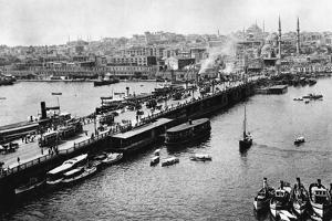 Galata Bridge in Istanbul, 1941 by Knorr Hirth Süddeutsche Zeitung Photo