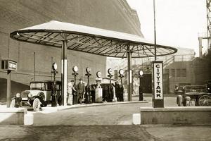 Gas Station, 1928 by Knorr Hirth Süddeutsche Zeitung Photo