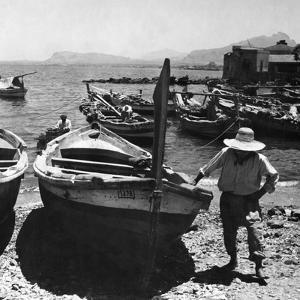 Harbour of Palermo, 1930s by Knorr Hirth Süddeutsche Zeitung Photo