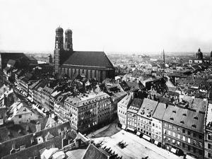 Marienplatz in Munich, 1860 by Knorr Hirth Süddeutsche Zeitung Photo