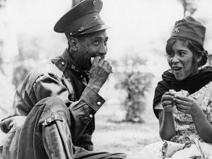 Mexican Soldier with Woman, 1936 by Knorr Hirth Süddeutsche Zeitung Photo