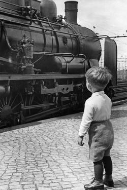 Steam Locomotive in Germany, 1936 by Knorr Hirth Süddeutsche Zeitung Photo