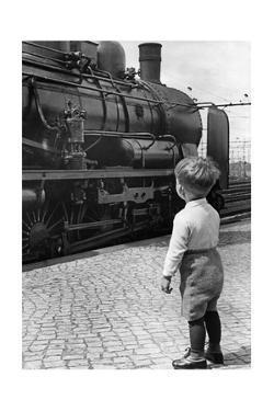 Steam Locomotive in Germany, 1936 by Knorr Hirth Süddeutsche Zeitung Photo