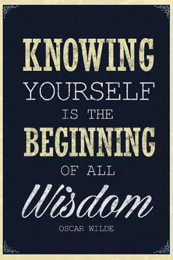 Knowing Yourself is the Beginning of All Wisdom Plastic Sign
