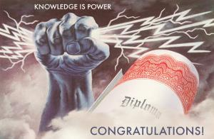 Knowledge is Power, Congratulations, Diploma, Graduation