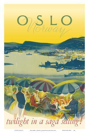 Oslo, Norway - Twilight in a Saga Setting