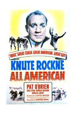 Knute Rockne All American - Movie Poster Reproduction
