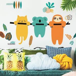 Koala And Sloth Peel And Stick Giant Wall Decals