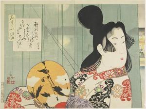 Beauties of Kan'ei and Shoho Era, April 1896 by Kobayashi Kiyochika