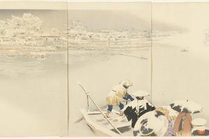 February: Matsuchiyanma Hill at Dusk in Snow, March 1896 by Kobayashi Kiyochika