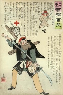 General Kuropatkin Ready for Anything Awaits the Coming of the Japanese by Kobayashi Kiyochika
