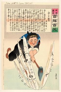 Japan Splits the Russian Torpedo Fleet by Kobayashi Kiyochika