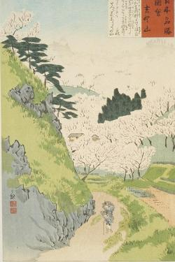 Mt. Yoshino, Cherry Blossoms or Yoshino yama from Sketches of Famous Places in Japan, 1897 by Kobayashi Kiyochika