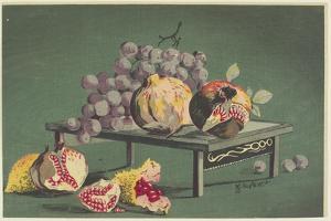Pomegranates and Grapes, 1879-1881 by Kobayashi Kiyochika