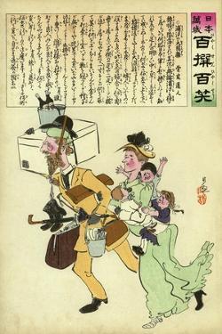 Russians Leaving Japan by Kobayashi Kiyochika