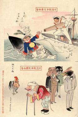 Sina Kurofune Nihon Shirofune -- Buta No Taibyo by Kobayashi Kiyochika