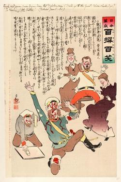 Such Mild News Comes from the War That Nicholas Says by Kobayashi Kiyochika