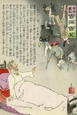 The Tsar Sees His Forces Returning by Kobayashi Kiyochika