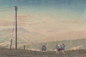 View of Mount Fuji from Hakone Mountains, Sketched at 3 A.M. in Early January, 1881 by Kobayashi Kiyochika