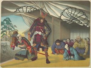 Warrior Departing for a Battle, C. 1880-1899 by Kobayashi Kiyochika