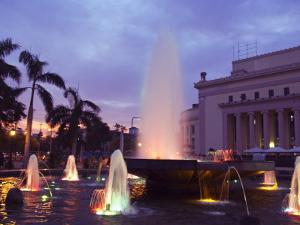 Fountain at Sunset, Rizal Park, Intramuros District, Manila, Philippines, Southeast Asia by Kober Christian