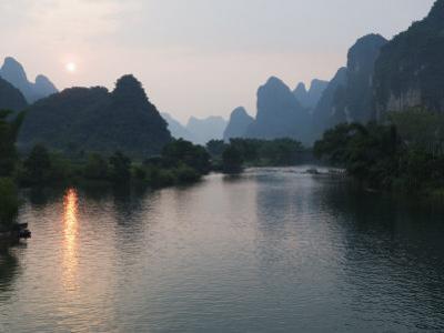 Li River in Yangshuo, Near Guilin, Guangxi Province, China by Kober Christian