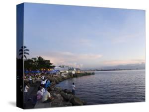 Manila Bay at Sunset, Manila, Philippines, Southeast Asia by Kober Christian