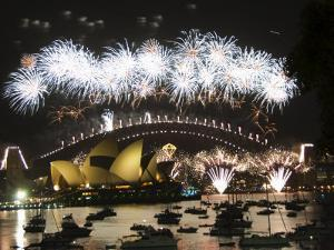 New Years Eve 2006, Opera House, Harbour Bridge, Sydney, New South Wales, Australia by Kober Christian