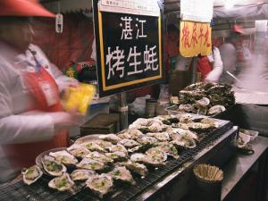 Street Market Selling Oysters in Wanfujing Shopping Street, Beijing, China by Kober Christian