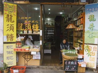 Tea Shop on Qinghefang Old Street in Wushan District of Hangzhou, Zhejiang Province, China by Kober Christian