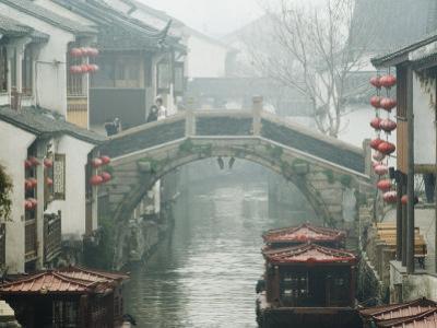 Traditional Old Riverside Houses in Shantang Water Town, Suzhou, Jiangsu Province, China by Kober Christian