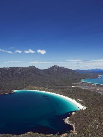 White Sand Beach, Wineglass Bay, Coles Bay, Freycinet National Park,Tasmania, Australia
