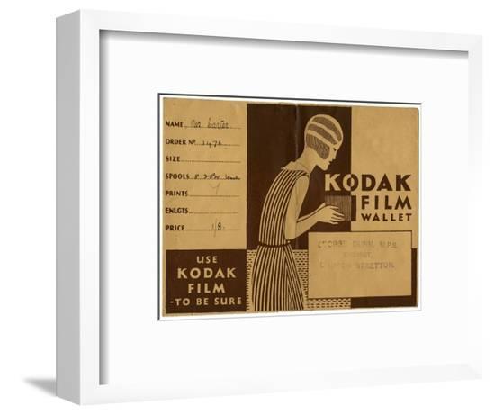 Kodak Film Wallet for Photographs and Negatives 1939--Framed Giclee Print