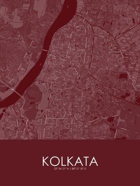 Kolkata, India Red Map